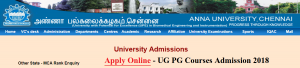 Anna University Online Application Form 2018 login