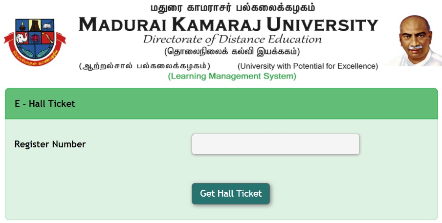 MKU DDE Hall Ticket 2018 Search by Name