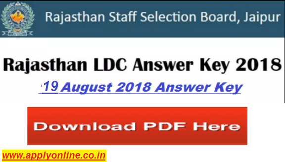 Utkarsh Coaching RSMSSB LDC Answer Key 2018 Rajasthan Clerk