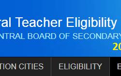 CTET Online Exam Application Form - www.ctet.nic.in