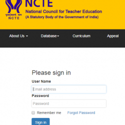 NCTE Online Application Form - ncte-india.org
