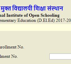 NIOS DELED Exam Form - www.dled.nios.ac.in