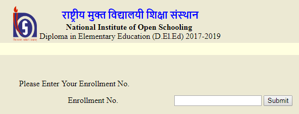 NIOS DELED Exam Form - www.dled.nios.ac.in