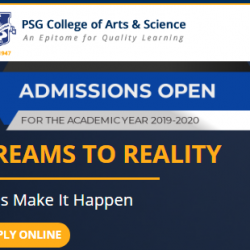 PSG College Admission of Arts & Science Technology 2019 Application Form