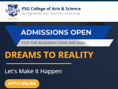 psgcas.ac.in- PSG College Admission of Arts and Science Coimbatore 2019-20