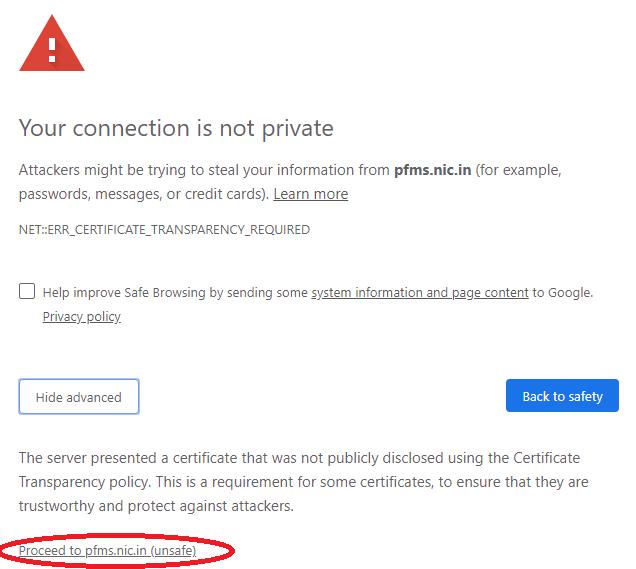 pfms.nic.in - PFMS Official Website Is Not Working
